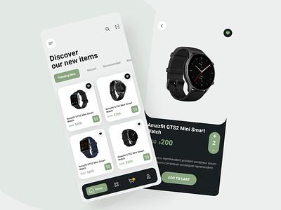 Watch shop app design ui ux mobile app watch app shopping app ui design ui app design