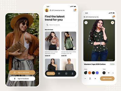 Fashion shop app design illustration ui app design ui design fashion app