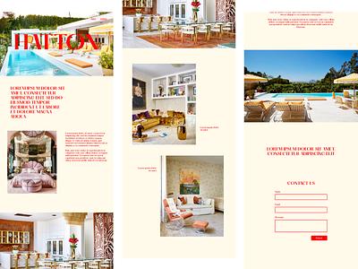 Design Concept | Hatton typography branding website design web development landing page website web design figma design