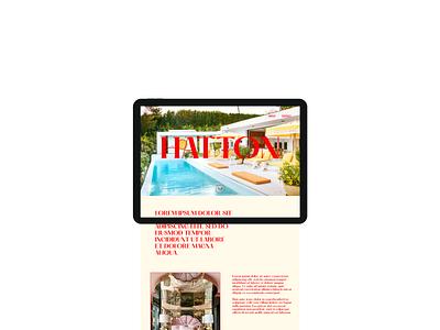 Design Concept | Hatton minimal website design website web development web design typography landing page figma design branding