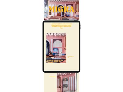 Design Concept | MIGRA minimal website design website web development web design typography landing page figma design branding