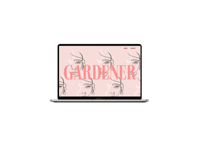 Design Concept | Gardener illustration website design website web development web design typography landing page figma design branding