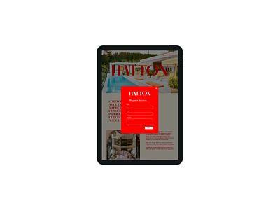 Design Concept | Hatton ui website design website web development web design typography landing page figma design branding