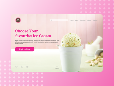 Day 3: Landing Page landing design icecream landingpage 003 day003 daily 100 challenge dailyui figma ux ui