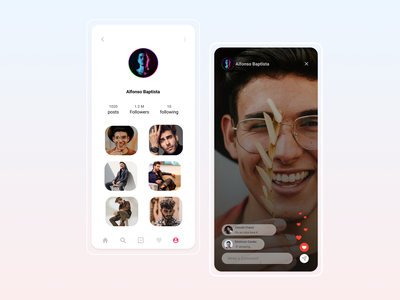Day 6: User Profile 100 day project 006 day 006 instagram live facebook live live profile page user profile daily 100 challenge 100daychallenge dailyui ux ui