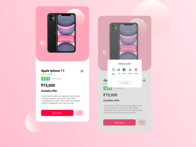Day 10: Social share product design mobile app mobile ui shopping ecommerce ecommerce app socialshare 010 day010 design ux daily 100 challenge dailyui ui