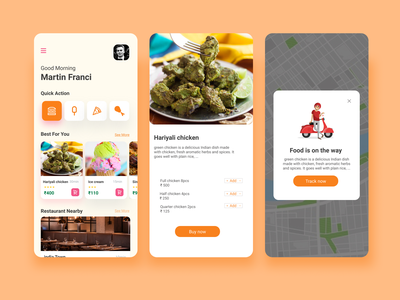 Day 16: Pop-Up / Overlay chicken web tracking mobile app design mobile ui restaurant app foodie food app 016 day016 ux daily 100 challenge dailyui ui