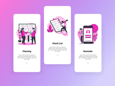 Day 23: Onboarding - To Do List planing to do list reminder mobile design mobile ui onboarding screen onboarding ui onboarding 023 day023 design ux daily 100 challenge dailyui ui