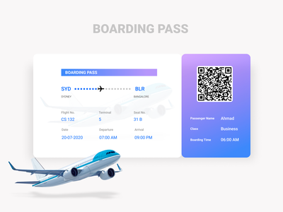 Day 24: Boarding Pass mobile app design mobile ui flight boarding pass flight booking boarding pass figma 024 day024 daily 100 challenge dailyui ux ui