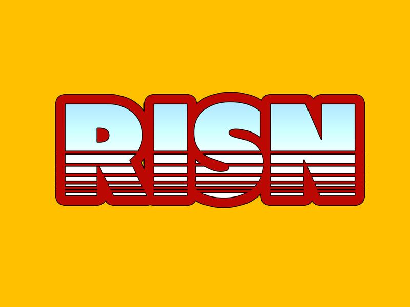 RISN corporation vector typography branding logo design