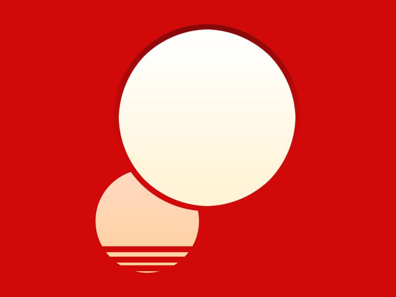 2 sun illustration minimal vector flat illustration design