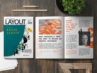 Layout Magazine graphic design layout magazine layout david carson magazine design magazine cover magazine biography branding book cover design book cover book art design artwork adobe illustrator adobe