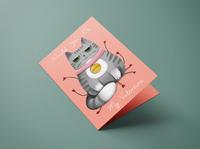 Gift Card valentine card cat valentines day graphic design design art publication photoshop gift card illustrator vector art illustration design artwork adobe illustrator adobe
