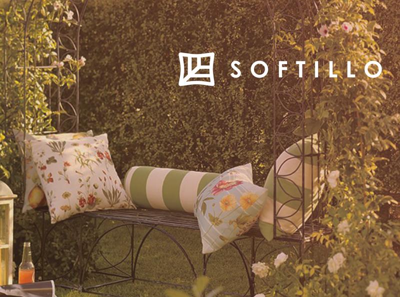 Logo for garden pillows manufacturer minimal vector logo branding flat
