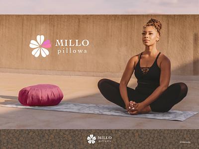 MILLO pillows minimal vector logo flat branding