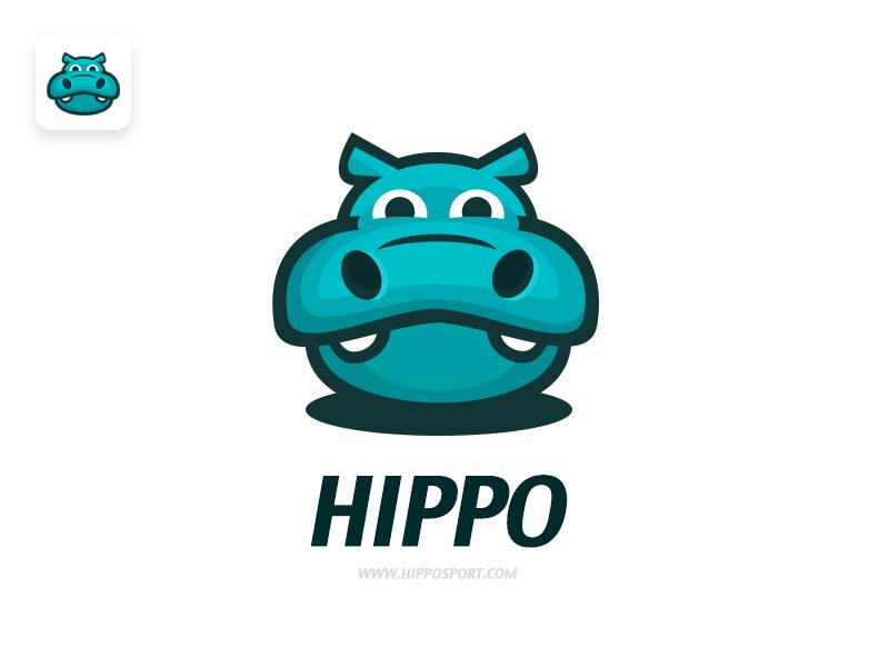 Hippo sport icon  image movement logo sport hippo