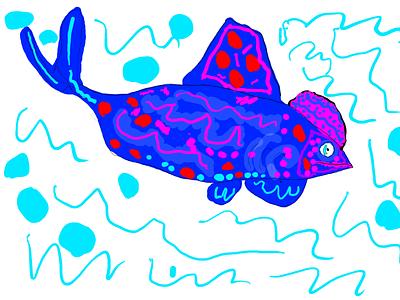 Amilari shark fish illustration ipad pro photoshop adobe