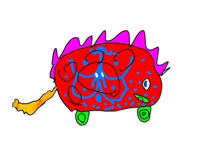 Volna dragon kids draw kids art ipad pro adobe