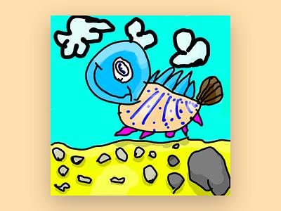 Lampa illustration photoshop kids draw kids art ipad pro adobe