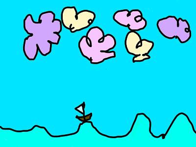 Fineravis boat illustration photoshop kids draw kids art adobe ipad pro illustraion