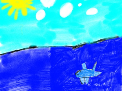 rainbow trout in the sea adobe fresco ipad pro kids draw