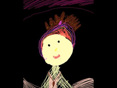 Pink princes kids art kids draw ipad pro