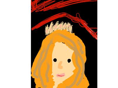 Red princes kids art kids draw ipad pro