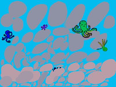 Octopus illustraion photoshop illustration kids art kids draw ipad pro