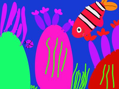 Corals kids art kids draw ipad pro