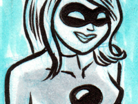 Black Betty Sketch Card