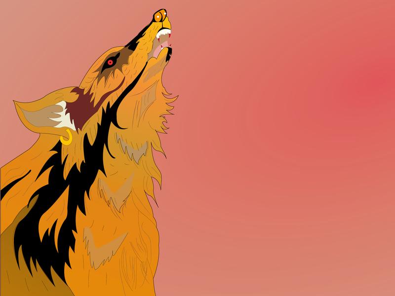 FOX attack hunter hunt foxy redeye red johirulxohan branding vector illustration design angry killer roar fox illustration fox