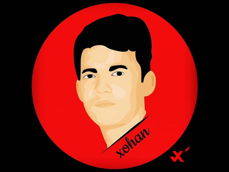 JohirulXohan ui redesign black red design illustration icon logo branding vector johirulxohan
