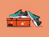 . flat ui logo icon branding johirulxohan vector illustration design shoes sneaker