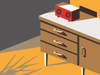 Table flat johirulxohan vector illustration design shadow radio table