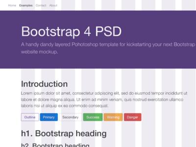 Bootstrap 4 PSD Template psd freebie psd psddd grid overlay grid bootstrap grid bs4 bootstrap 4 psd bootstrap 4 template bootstrap 4 bootstrap template freebie