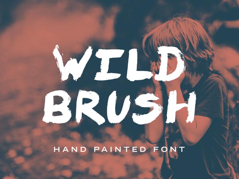 Wild Brush Font wildbrush fonts painted font paint hand brushed brush font font hand painted hand lettered font hand lettered brush wild