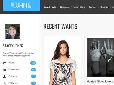 Want - User Profile want wanttt user user page user screen user profile profile page