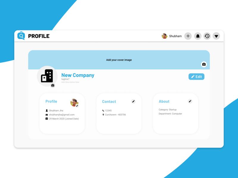 Internship Station | Profile Page company design minimal ux design ui inspiration ui ux ui design web design account internship profile page