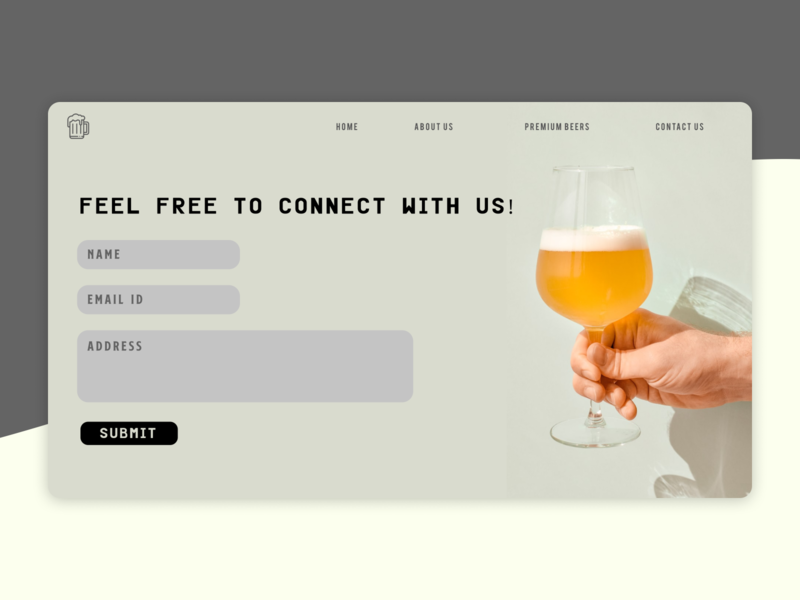 Fugas Brewing Co | Contact Us minimal design company ux design web design ui ux ui inspiration ui design landing page brewing brewing company brewery contact page contact us