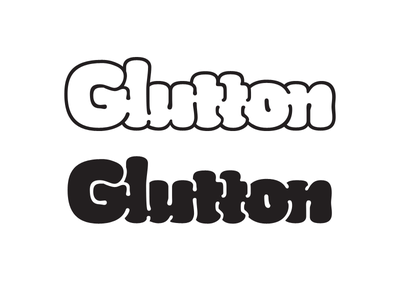 Glutton Bulges and Wiggle Lines type letters font