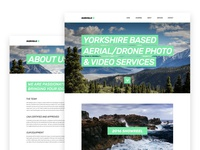 Branding and website design for drone company