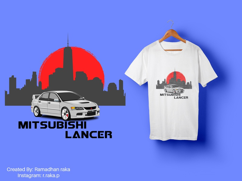mitsubishi lancer otomotif lancer car vector cars car mitsubishi automotive vector tshirt design tshirtdesign tshirt mockup design mockup kaos illustration desainkaos art