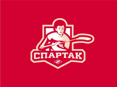 """Children's floorball school """"Spartak"""" children spartak stick sport sports logos logo floorball"""