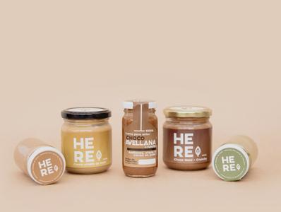 Packaging Design / Peanut Butter - HERE branding concept logodesign logo branding and identity branding packagingdesign packagedesign packaging