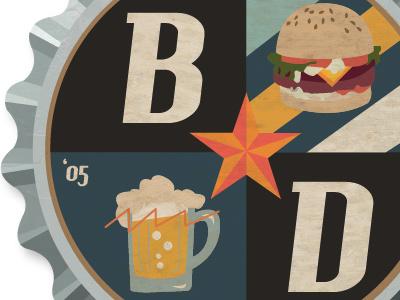 Beercap Logo logo beer beercap cap burger 05 star friends