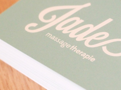 Jade Massage Business cards massage jade business card visite therapie therapy