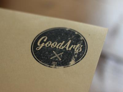GoodArts Stamp Logo goodarts stamp logo inkt paper