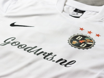 Soccer jersey beercap bierdop tshirt logo design goodarts soccer football nike