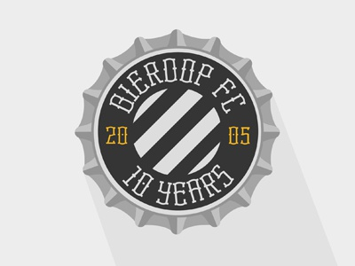 Beercap Logo logo beer beercap cap 05 friends club fc 10 ten years