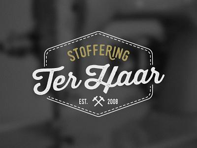 Logo Ter Haar 2 vintage stitch stoffering est hammer logo